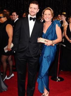 Justin Timberlake with mother