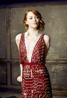 Emma Stone 2015 Oscar Party portrait by Mark Seliger