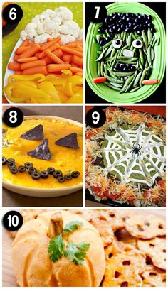 Halloween snacks and appetizers- love these!