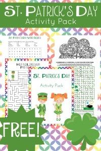 Your kids will enjoy completing these free St Patricks Day printable activities!   embarkonthejourney.com