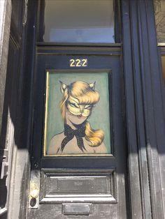 Miss Van style painted door - San Francisco