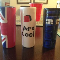 Made these shot glasses. Doctor who themed <3