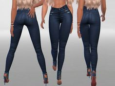 Super sexy, low rise,soft and slim fit leather jeans for your ladies.^^ Found in TSR Category 'Sims 4 Female Everyday'