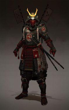 Dungeons & Dragons: Samurai, a Fighter archetype (inspirational) Kabuto Samurai, Ronin Samurai, Female Samurai, Fantasy Character Design, Character Inspiration, Character Art, Character Concept, Samurai Concept, Samurai Wallpaper