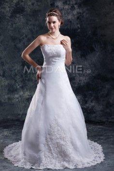 Robe de mariée 2016 dentelle col en coeur sans bretelles