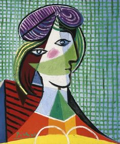 View Tête de femme by Pablo Picasso on artnet. Browse upcoming and past auction lots by Pablo Picasso. Kunst Picasso, Art Picasso, Picasso Paintings, Oil Paintings, Painting Art, Indian Paintings, Painting Lessons, Abstract Paintings, Picasso Self Portrait