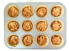 Flourless Carrot Cake Breakfast Muffins via Simply Real Healt