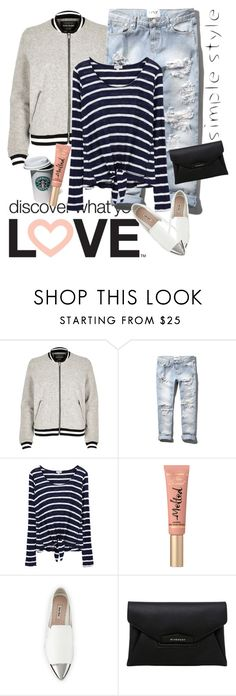 """""""Untitled #410"""" by jecas24 on Polyvore featuring River Island, Abercrombie & Fitch, Splendid, Too Faced Cosmetics, Miu Miu and Givenchy"""
