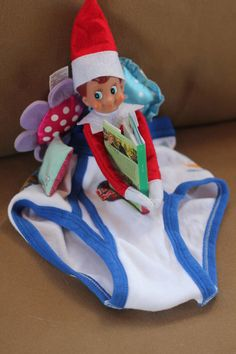 Elf on the Shelf Ideas - Cozy underwear My boys would think this was hilarious!!!!!!