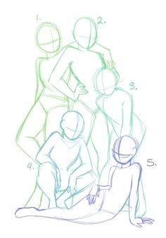 Equipo #DrawingPoses #equipo Body Reference Drawing, Anime Poses Reference, Male Pose Reference, Body Drawing, Manga Drawing, Design Reference, Anime Group Base, Anime Base, Portrait Drawing Tips