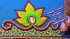 ஈசியா ஒரு  Flower Work..! Only use beads and thread work In Aari Embroid... Simple Flower Design, Simple Flowers, Flower Designs, Work Meaning, Aari Embroidery, Thread Work, Thank You So Much, Dear Friend, Designers