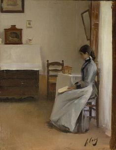 Entre dos capítols (c.1890). Ramon Casas y Carbó (Catalan Spanish, 1866-1932). Oil on canvas. Museu Nacional d'Arte de Catalunya.