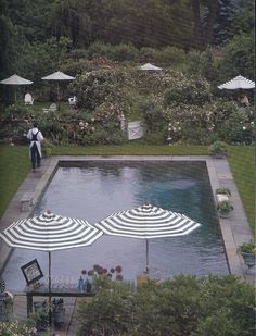 Pool in a garden. #camillestyles