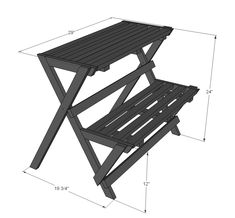 Ana White   Build a Folding Plant Stand   Free and Easy DIY Project and Furniture Plans