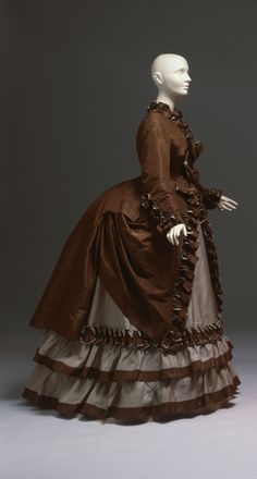 Worth walking dress ca. 1867, from the Albany Institute of History and Art