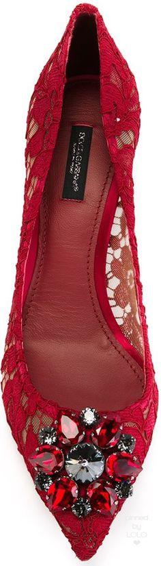 DOLCE & GABBANA  'Bellucci' pumps red | LOLO❤︎