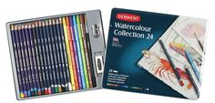 Derwent Watercolour Collection Tin Of 24 Pastel Pencils, Watercolor Pencils, Watercolour, Coloring Pages To Print, Paint By Number, Ebay, Art Therapy, Collection, Tin