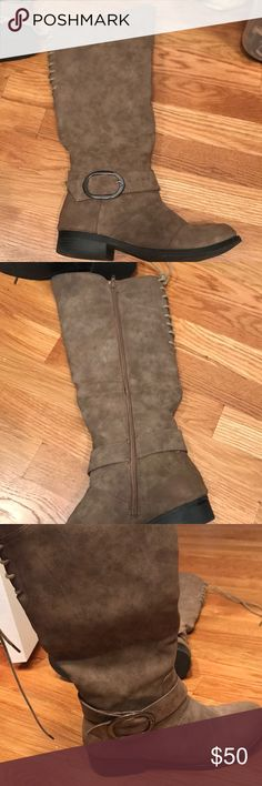 Long boots Barely worn. High rise lace up boots. Run true to size Shoes Lace Up Boots