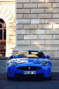 The blue Jaguar