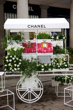 Chanel flower stall in London's Covent Garden