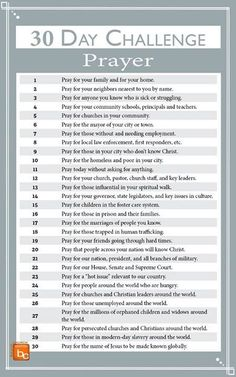 8 Awesome Free Challenges That Will Improve All Areas Of Your Life. I love how this post includes so many aspects of life! The fitness and health challenges are great, but I really like how there is a relationship, money, and parenting challenge included. Prayer Closet, Prayer Room, Power Of Prayer, My Prayer, Types Of Prayer, Bible Prayers, Bible Scriptures, Bible Notes, Prayer Times