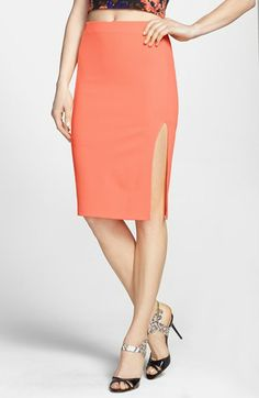 ASTR Textured Pencil Skirt available at #Nordstrom