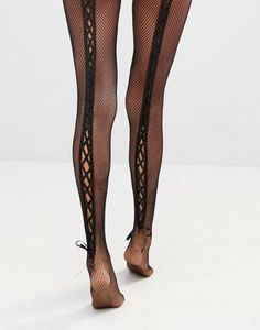 Ann Summers Lace Up Back Fishnet Tights