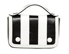Moschino's black-and-white-striped Gloria.