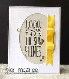 Smiling while Stamping: I Love You more... handmade card using My Favorite Things I Love You More stamp set