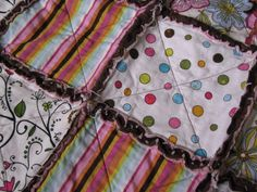 2 yards of each...You will want to cut all the fabric (that means the minky, the cotton and the flannel) into 6 inch squares.