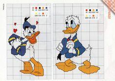 Gallery.ru / Фото #146 - 124 - ergoxeiro Disney Cross Stitch Patterns, Cross Stitch For Kids, Cross Stitch Cards, Cross Stitch Designs, Cross Stitch Embroidery, Mickey Mouse Characters, Mickey Mouse And Friends, Stitch Cartoon, Disney Stitch