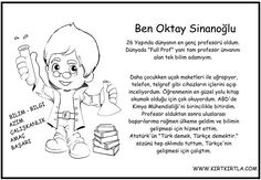 OKTAY SİNANOĞLU BOYAMA VE BİLGİ SAYFASI Pre School, Preschool Activities, Illustrators, Drama, Science, Education, Children, Memes, Culture