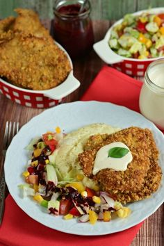 Fűszeres, ropogós bundájú sertésszelet salátával recept
