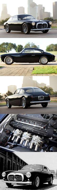 Dieses und weitere Luxusprodukte finden Sie auf der Webseite von Lusea.de  1955 Maserati A6G/54 / s/n 2105 1 of 21 produced / 150hp 2.0l L6 / black white / Italy