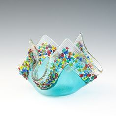 """""""Caribbean Confetti"""" Votive candle holder by Jerry Galloy"""