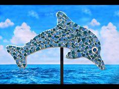 "Medium 45"" mottled blue dolphin"