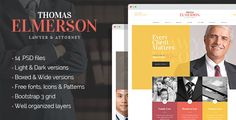 Lawyer & Attorney - personal lawyer and law company PSD template by mwtemplates   Lawyer is a clean, well structured and crafted with attention to details design for lawyers, attorneys, law firms, financial c