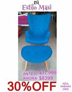 HOT SALE!!! Shop OnLine: http://articulo.mercadolibre.com.ar/MLA-666066126-hot-sale-sillon-cleo-habanoazulgris-linea-moderna-_JM ANTES: $11.999 AHORA: $8399 Realiza tu compra hoy y elegí el tapizado que mas te guste!! TODOS LOS MEDIOS DE PAGO! TODAS LAS TARJETAS! APROVECHAAA