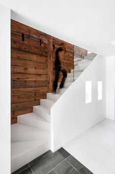 9 stunning timber feature walls you need to see now. Image via Dezeen.
