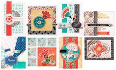 Basic Grey April 2014 COTM Card of the Month Kit with Spice Market