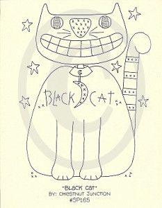 Black Cat Embroidery Epattern – Chestnut Junction