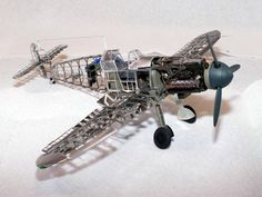 """Messerschmitt Bf 109 F by IMCTH The third installment of the fine structure model series from IMCTH is the German Messerschmitt, aka """"Me 109"""". The Messerschmitt aircraft was the product of extensive r"""
