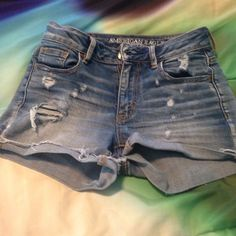 American Eagle Ripped Shorts Very stretchy and comfortable material American Eagle Outfitters Shorts