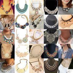 Hot Fashion Popular Bib Statement Chunky Choker Charm Chain Necklace Jewelry #Unbranded #Pendant
