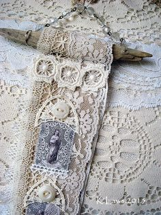 religious handmade lace roll - snippet roll - NO 94