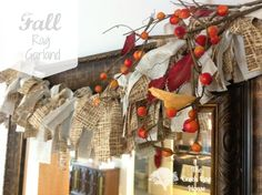 Fall autumn rag garland-like a rag wreath!