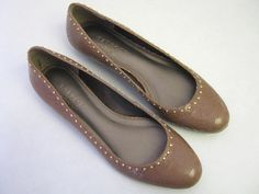 Womens Shoes 7 AA Talbots Brown Leather Flats CLEARANCE SALE  #Talbots #BalletFlats
