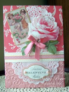 Valentine Card 3 from ANNA GRIFFIN ALL ABOUT LOVE CARD KIT FEB 2014