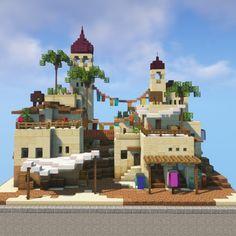 Minecraft Market, Easy Minecraft Houses, Minecraft House Tutorials, Minecraft Castle, Minecraft Medieval, All Minecraft, Minecraft Plans, Minecraft House Designs, Minecraft Construction