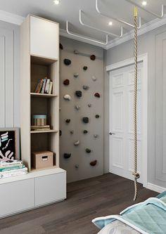 Boys Room Decor, Boy Room, Kids Bedroom, Playroom Design, Kids Room Design, Climbing Wall Kids, Cool Kids Rooms, Kid Spaces, Room Inspiration